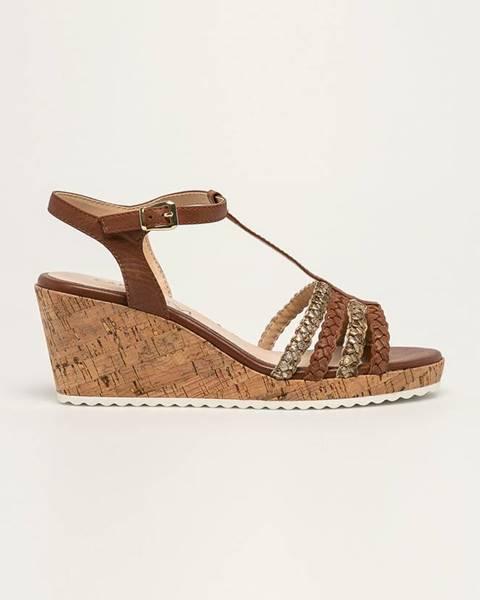 Hnědé boty Caprice