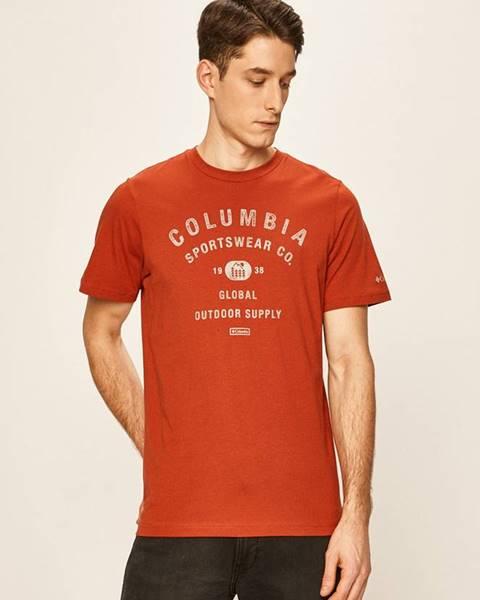 Červené tričko columbia