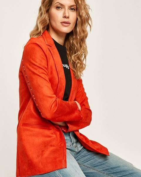 Červené sako desigual