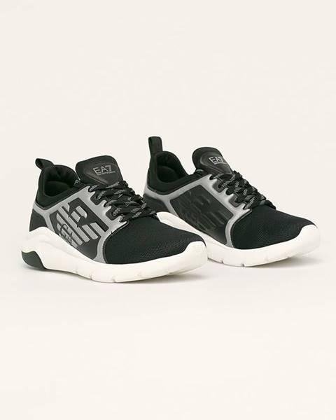 Černé boty EA7 Emporio Armani
