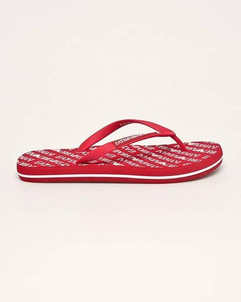 Červené boty EA7 Emporio Armani