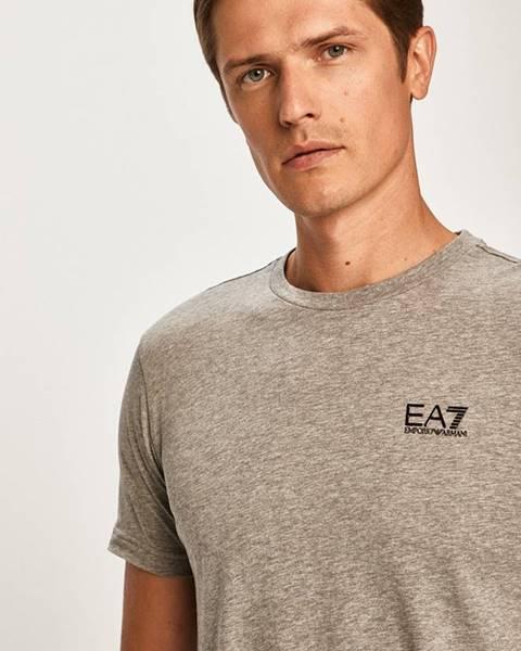 Šedé tričko EA7 Emporio Armani