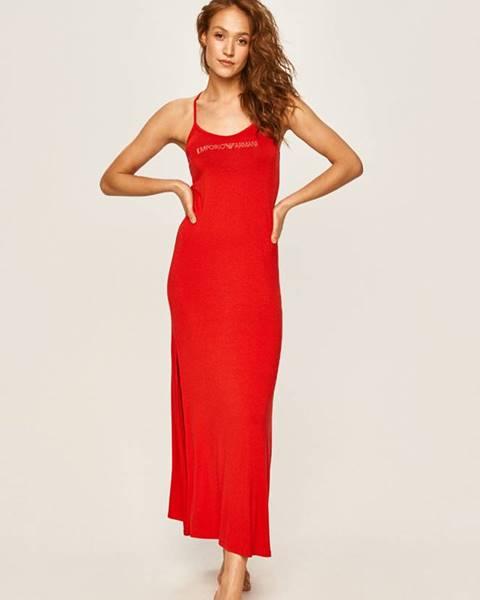 Červené šaty Emporio Armani