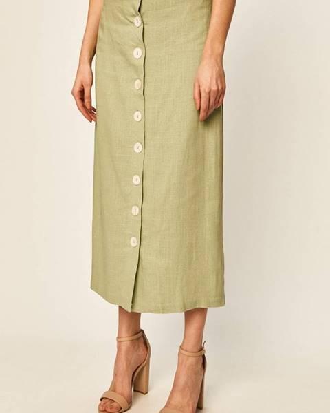 Zelená sukně Glamorous