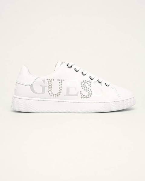 Bílé boty Guess Jeans
