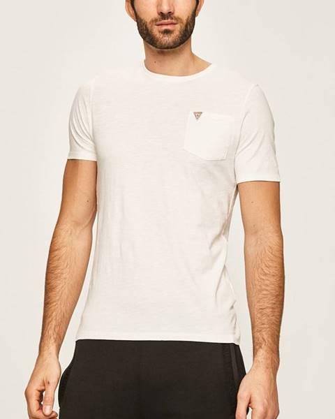 Bílé tričko Guess Jeans