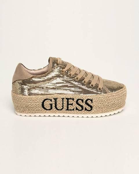 Zlaté boty Guess Jeans