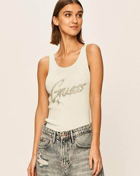 Tyrkysový top Guess Jeans