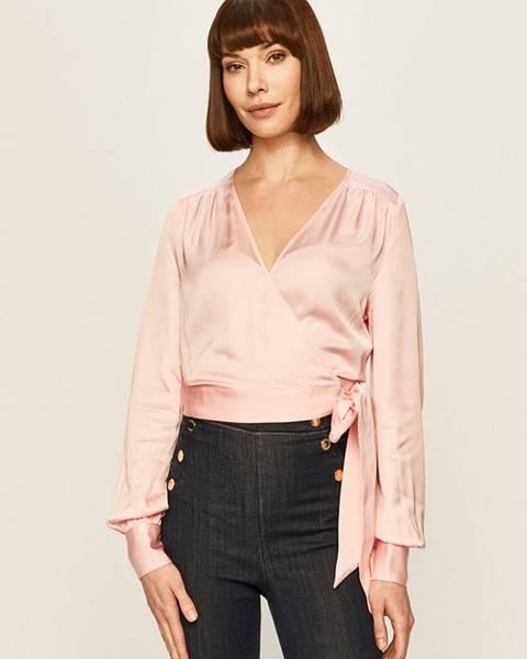 Růžová halenka Guess Jeans