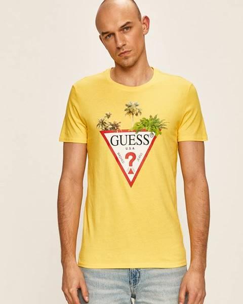 Žluté tričko Guess Jeans