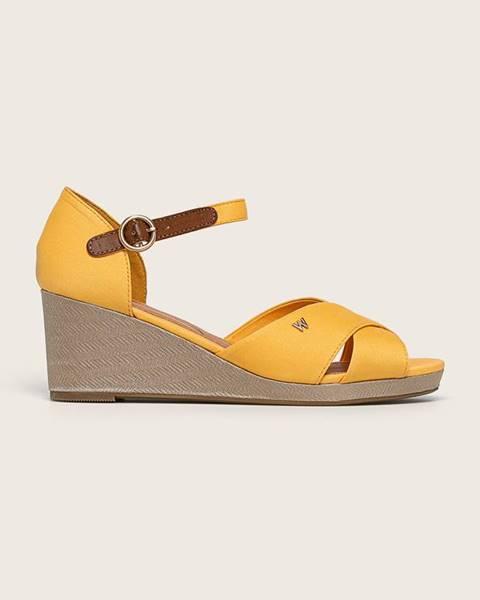 Žluté boty wrangler