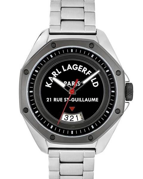 Stříbrné hodinky karl lagerfeld