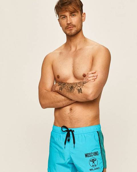 Modré plavky Moschino Underwear