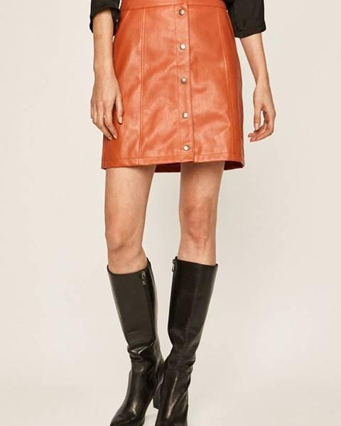Oranžová sukně vero moda