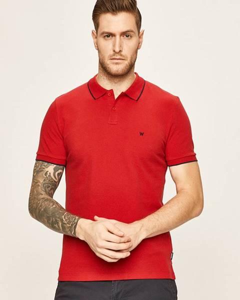 Červené tričko wrangler