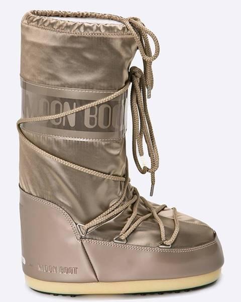 Béžové boty Moon Boot