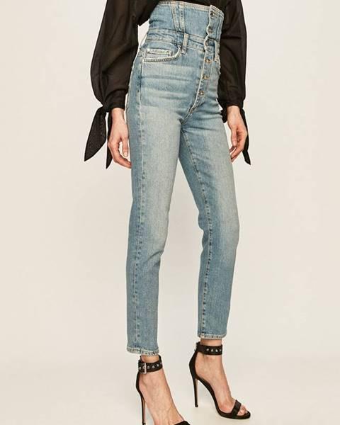 Modré kalhoty Guess Jeans