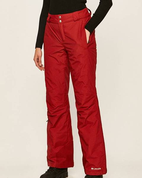 Červené kalhoty columbia