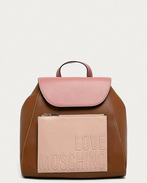 Hnědý batoh Love Moschino