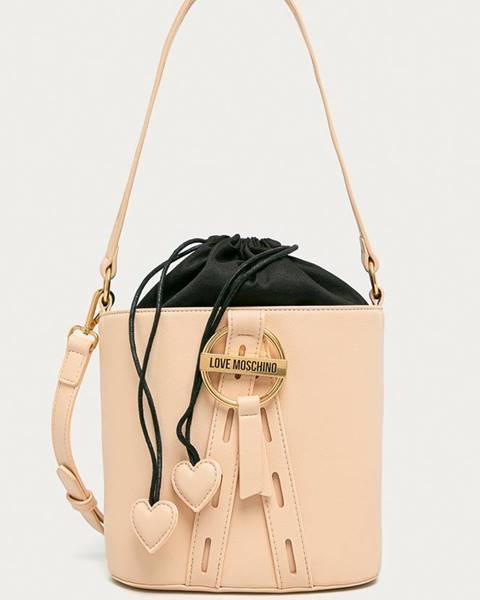 Béžová kabelka Love Moschino