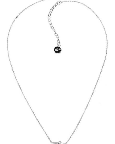 Stříbrný náhrdelník karl lagerfeld
