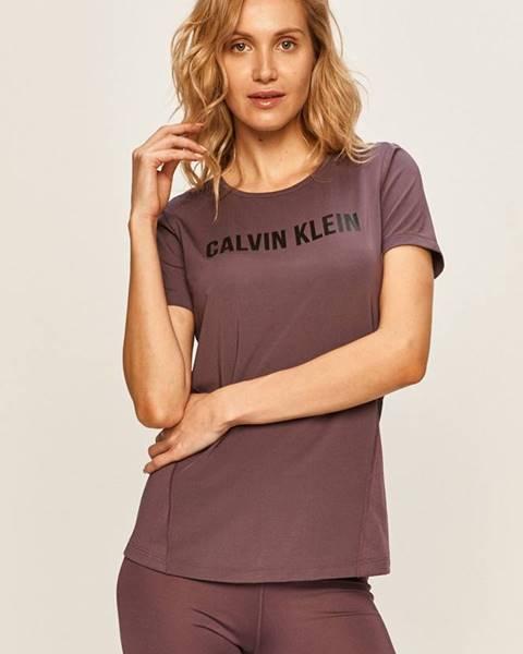 Fialový top Calvin Klein Performance