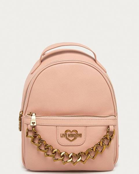 Růžový batoh Love Moschino