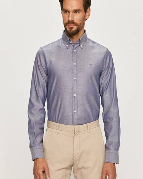 Modrá košile Tommy Hilfiger Tailored