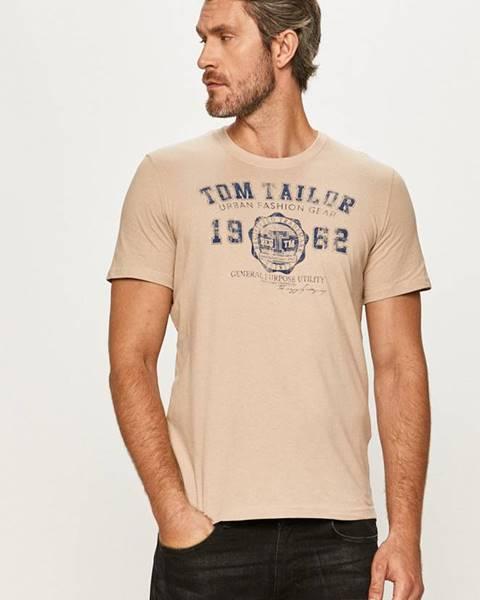 Béžové tričko tom tailor denim