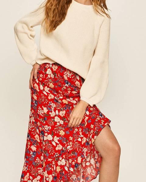 Červená sukně ANSWEAR