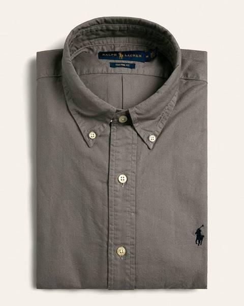 Šedá košile Polo Ralph Lauren