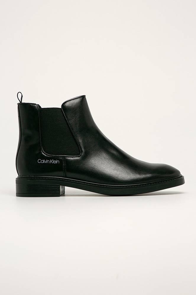 Calvin Klein Calvin Klein - Kožené kotníkové boty