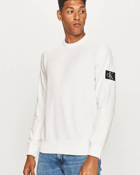 Bílá mikina calvin klein jeans