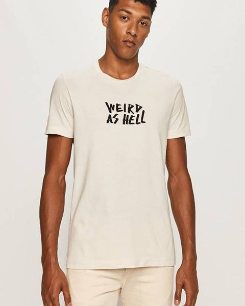 Béžové tričko Diesel