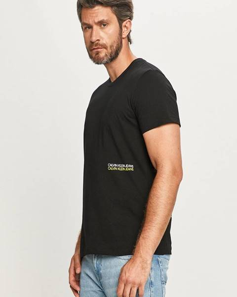 Černé tričko calvin klein jeans