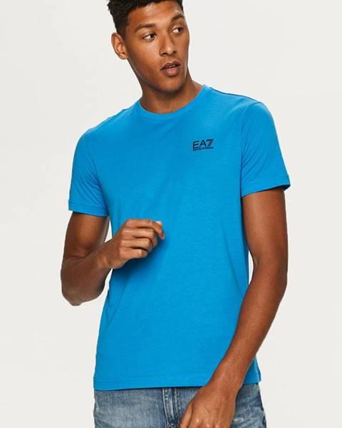 Modré tričko EA7 Emporio Armani