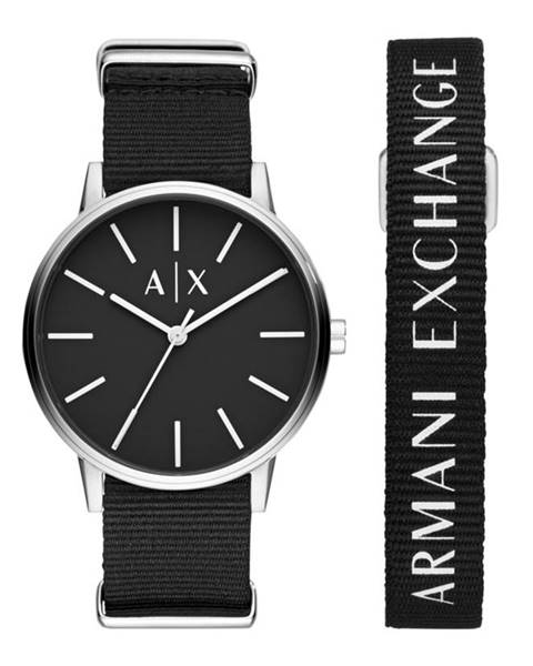 Černé hodinky Armani Exchange