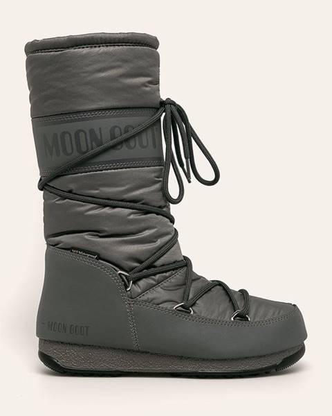Šedé boty Moon Boot