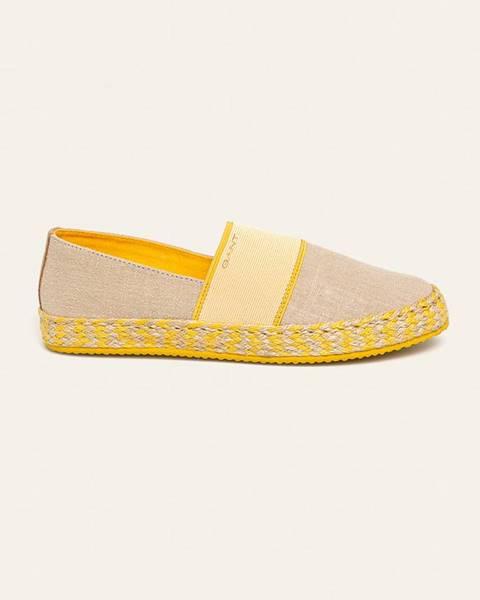 Béžové boty gant