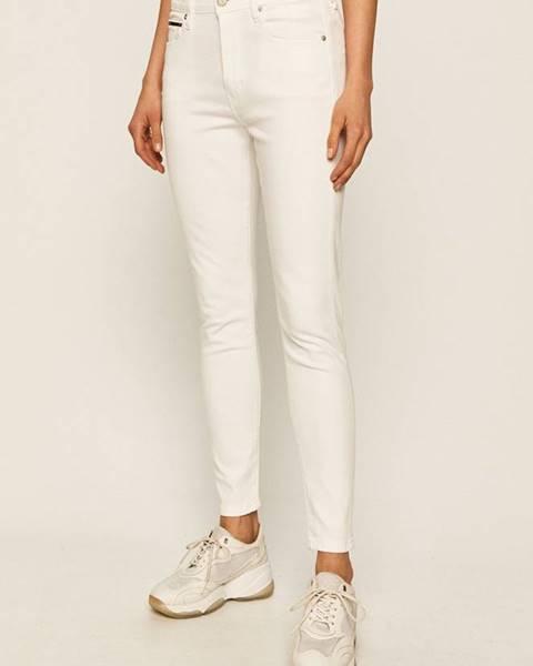 Bílé kalhoty Tommy Jeans