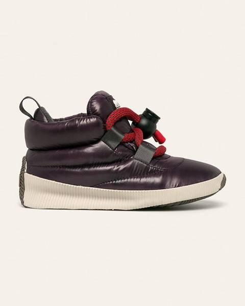 Fialové boty sorel