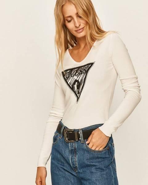 Bílý svetr Guess Jeans