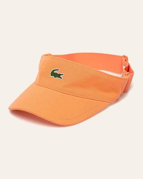 Oranžová čepice lacoste
