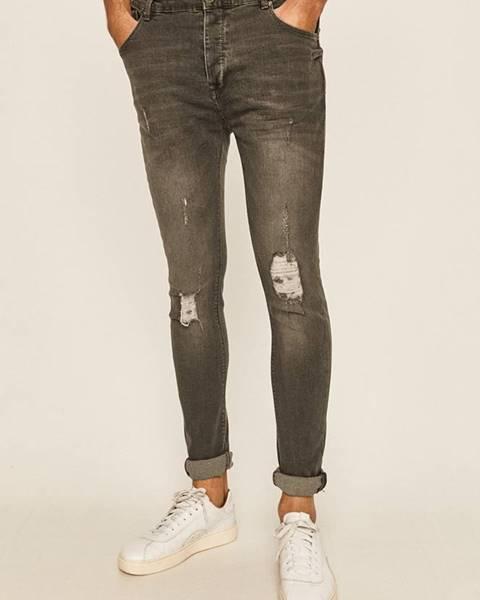 Šedé kalhoty Brave Soul