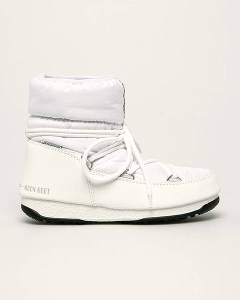 Bílé boty Moon Boot