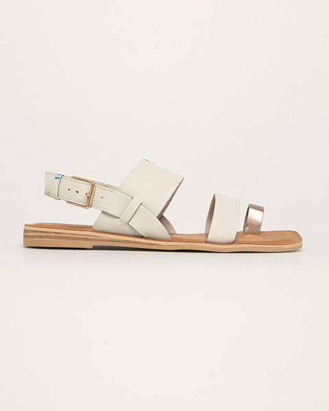Bílé boty toms