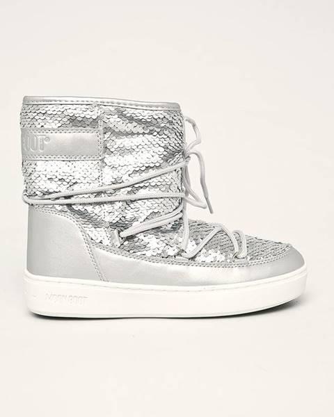 Stříbrné boty Moon Boot