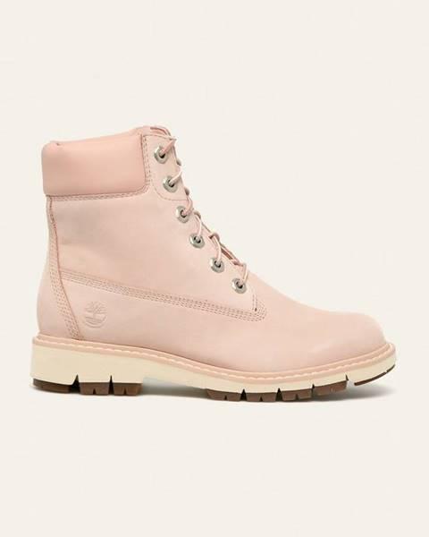 Růžové boty Timberland
