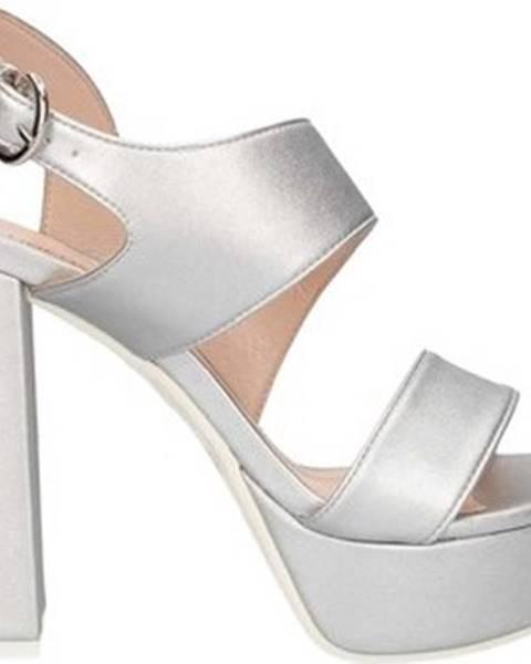 Stříbrné sandály Lorenzo Mari