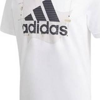 adidas Trička s krátkým rukávem Athletics Graphic Bílá
